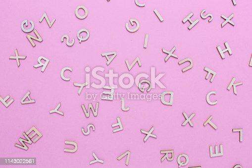 613303142 istock photo Wooden ABC alphabet letters 1143022561