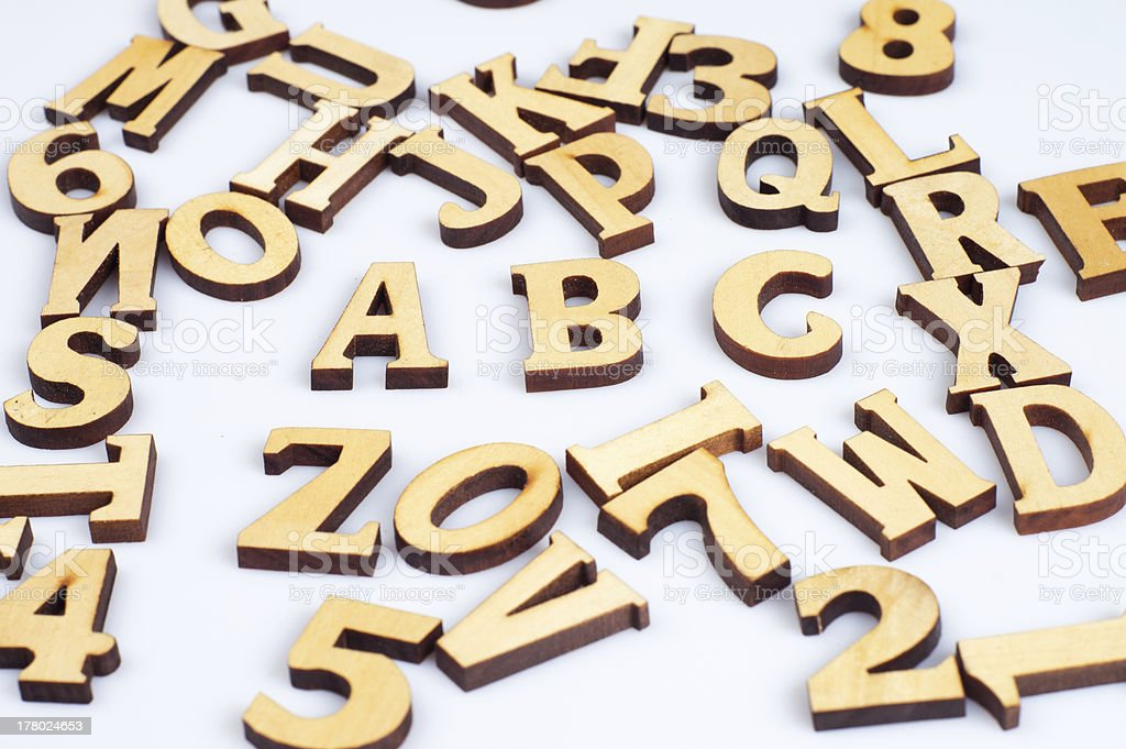 Wooden abc letters royalty-free stock photo