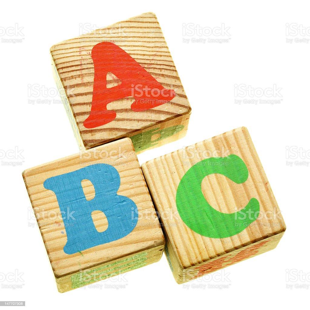 Wooden ABC royalty-free stock photo