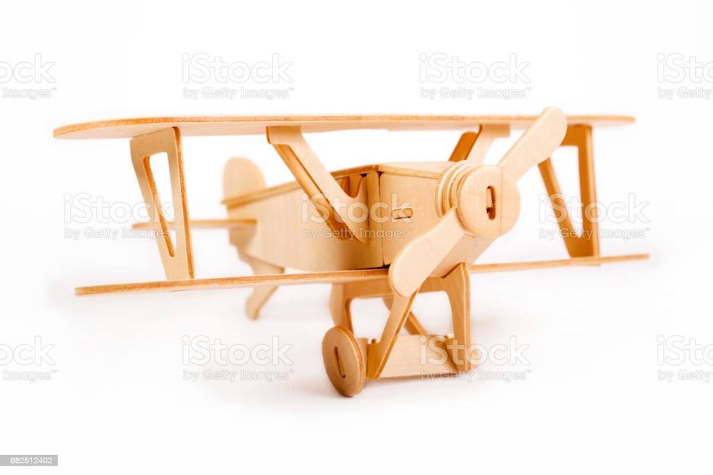 Wooden airplane model royalty-free stock photo