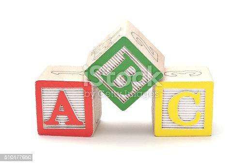 istock Wooden alphabet blocks 510477650