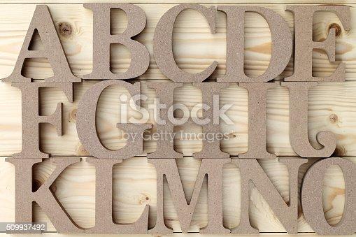 istock Wooden alphabet letter blocks 509937492