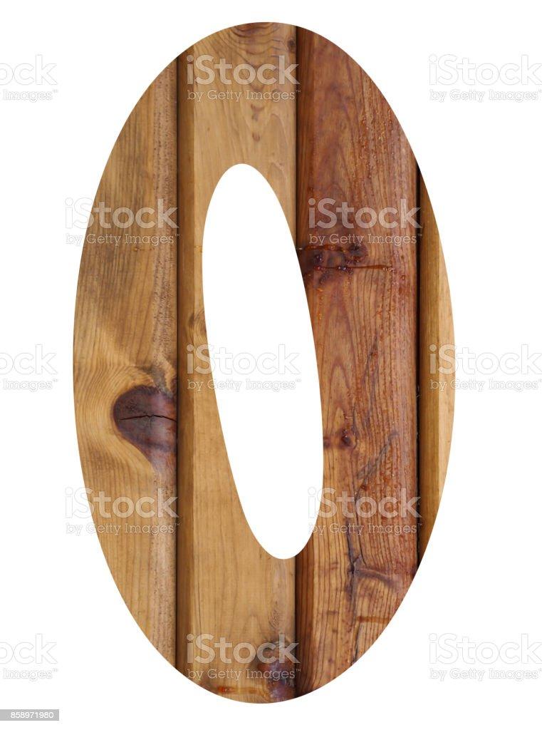 wooden alphabet letter o stock photo