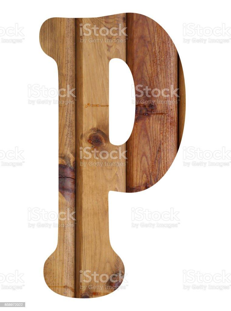 wooden alphabet letter p stock photo