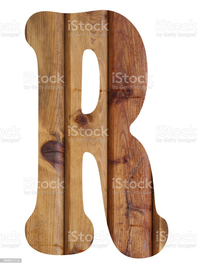 wooden alphabet letter r stock photo