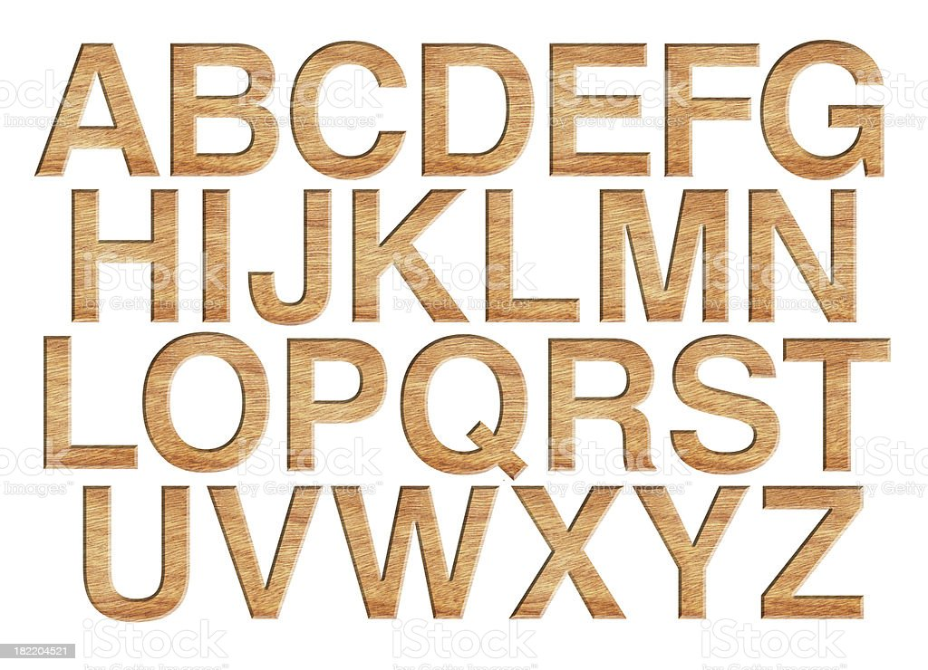 Wooden alphabet royalty-free stock photo