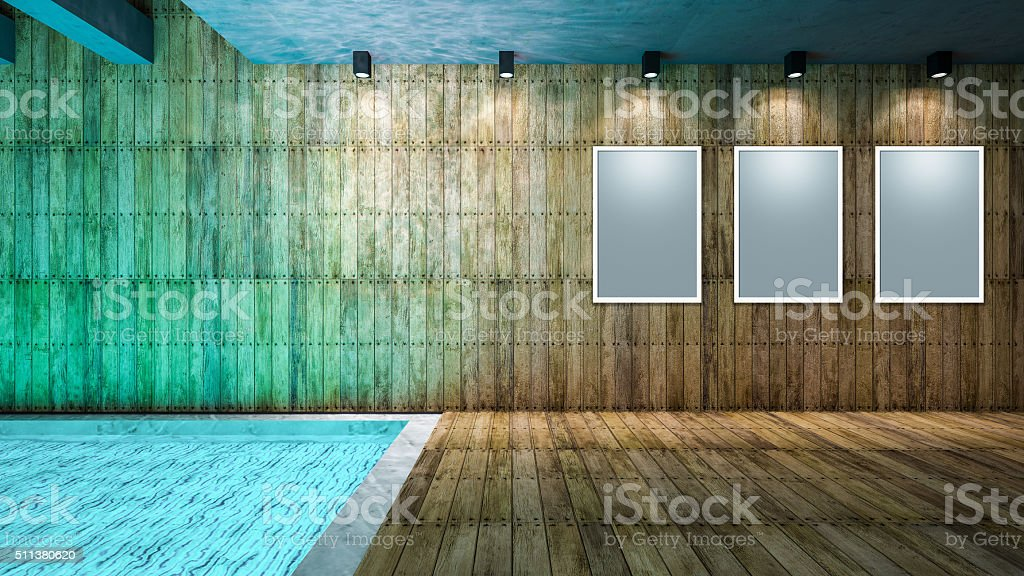 wooden and pool stock photo