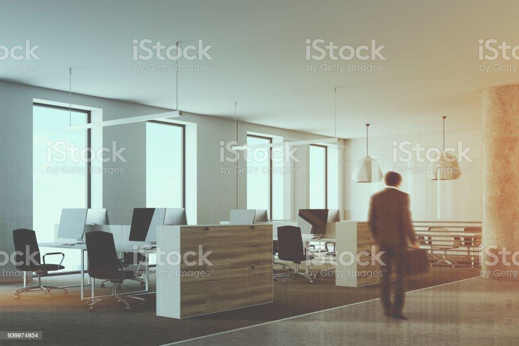 Wooden And White Loft Office Corner Toned Stock Photo & More ... on white contemporary, white townhouse, white flex, white ranch, white land, white lobby, white condominium, white garage, white hardwood floors, white triplex,