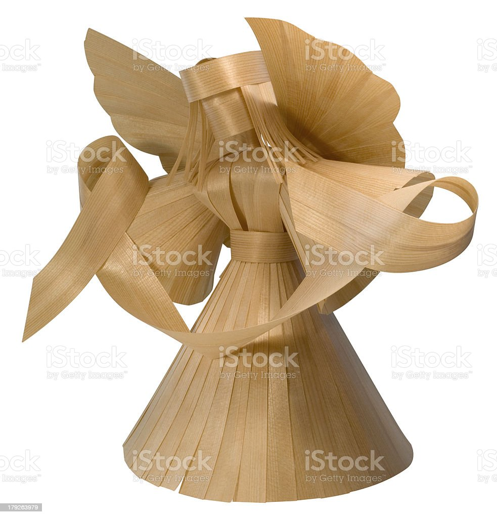 wooden angel sculpture royalty-free stock photo