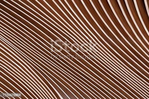 istock Wooden Architecture - Glulam - Glued Laminated Timber 1124475954