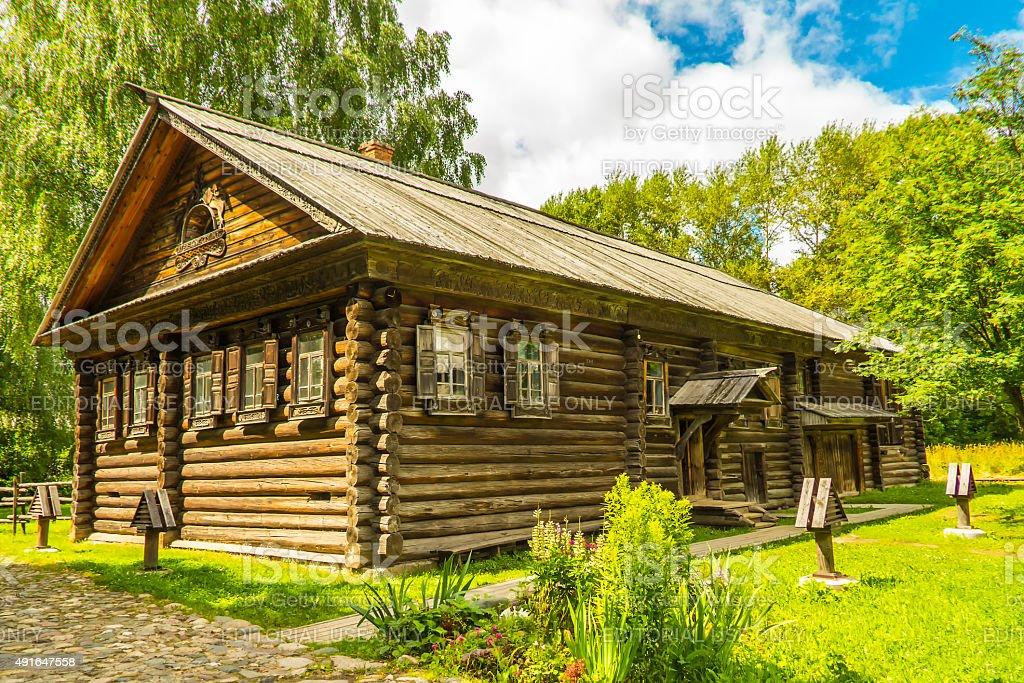 Wooden architecture, hut stock photo