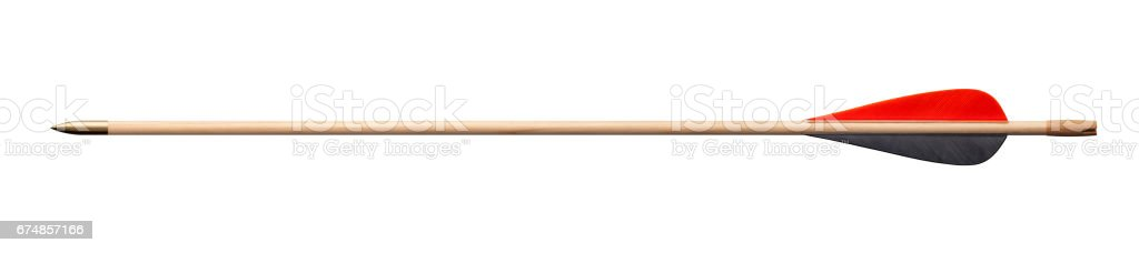 Wooden arrow stock photo