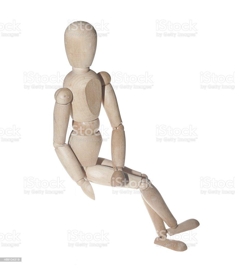 Wooden art model figure royalty-free stock photo