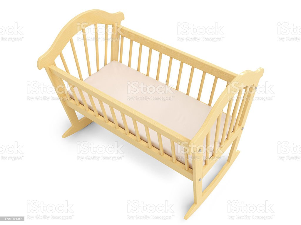 Wooden Baby Crib royalty-free stock photo