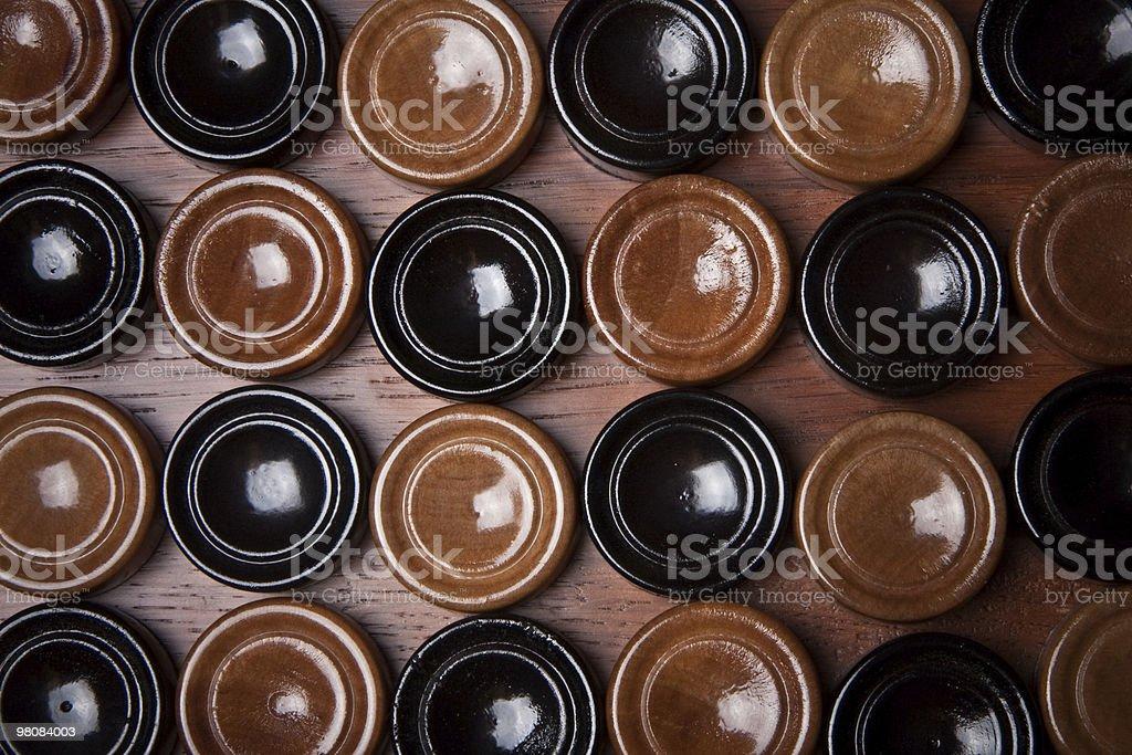 wooden backgammon royalty-free stock photo
