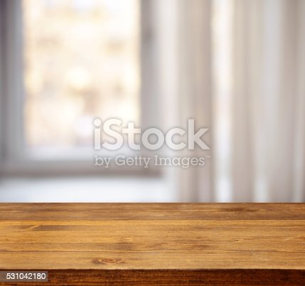 wooden background and defocused window