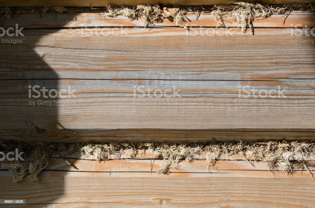 Wooden background of boards illuminated by the sun royalty free stockfoto