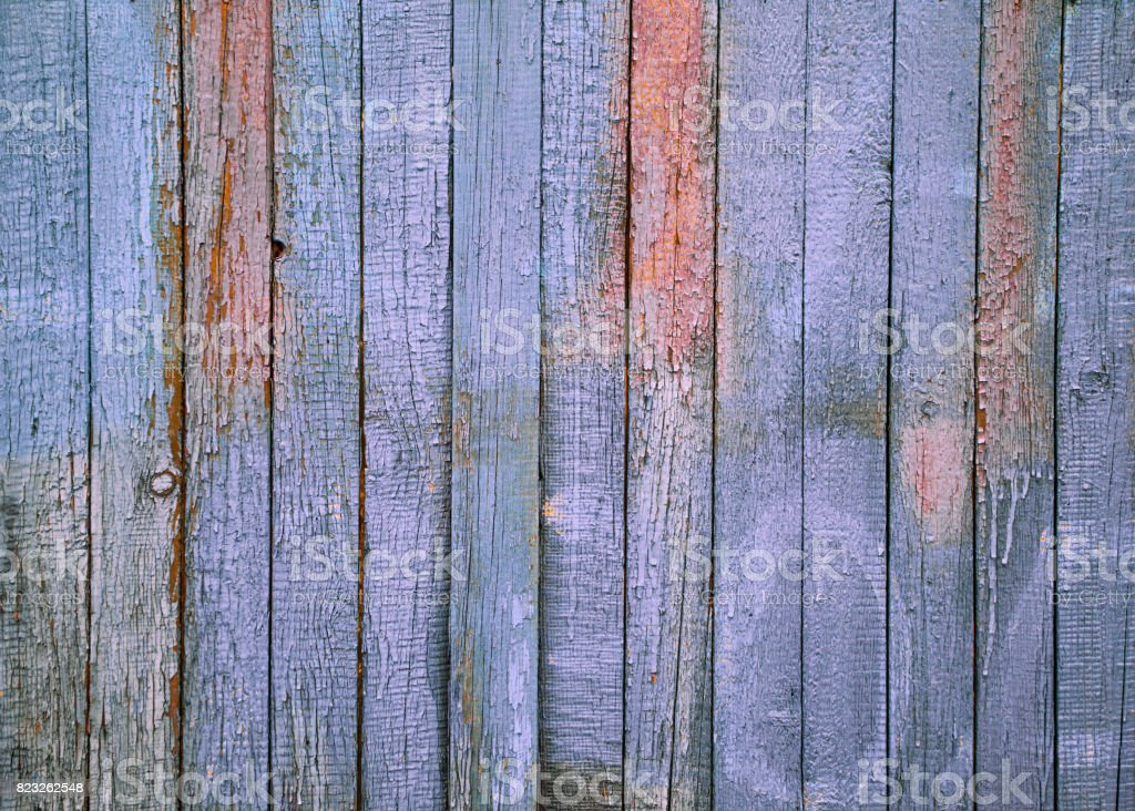 Wooden background texture.Old shabby  colored wooden fence.Texture for your design, copy space. stock photo