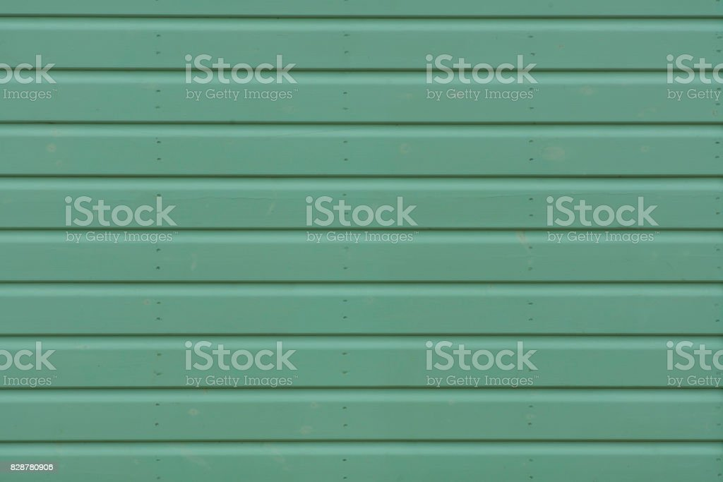 Wooden Background wall Slats in Green stock photo