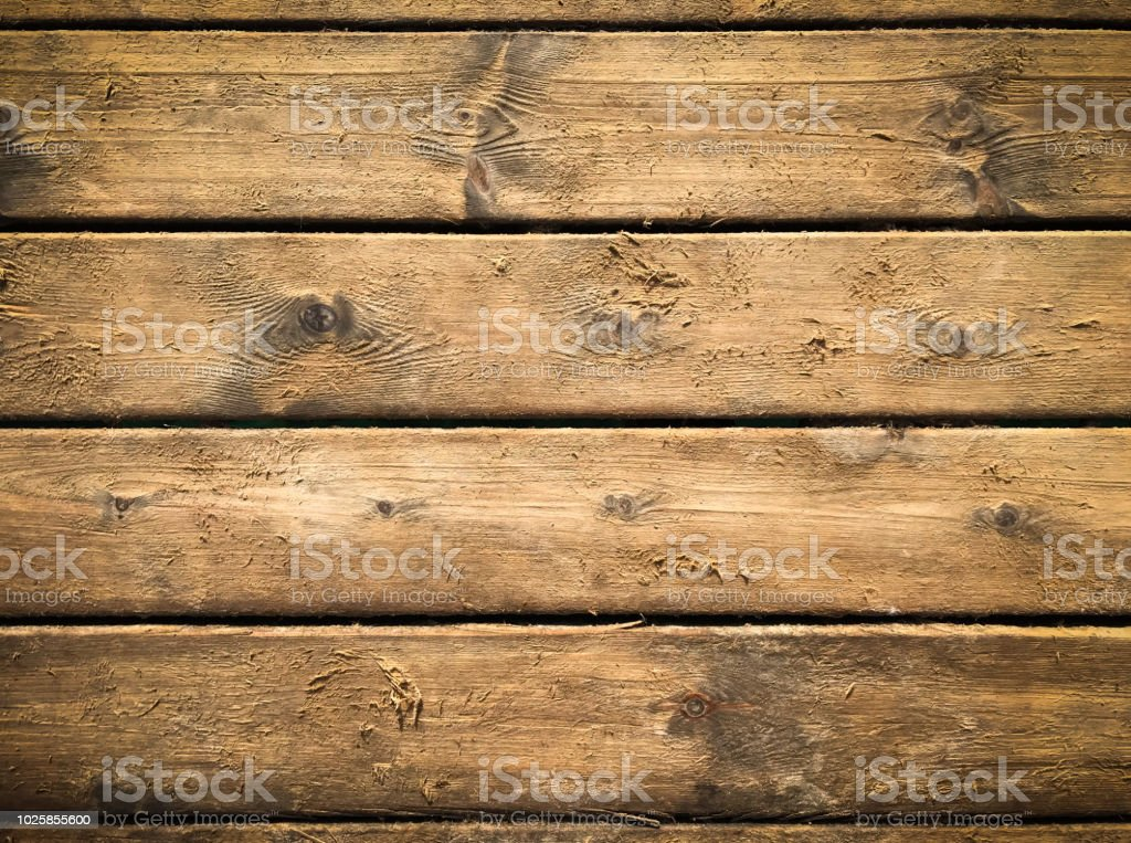 Wooden Background With Brown Horizontal Planks Old And Rough Wood Texture Stock Photo Download Image Now