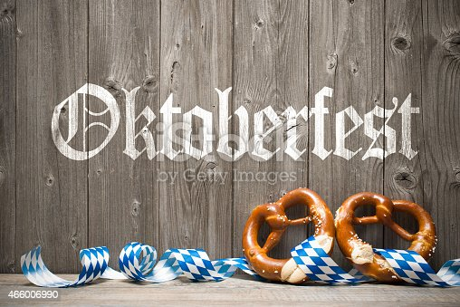 istock Wooden background with white painted writing for Oktoberfest 466006990