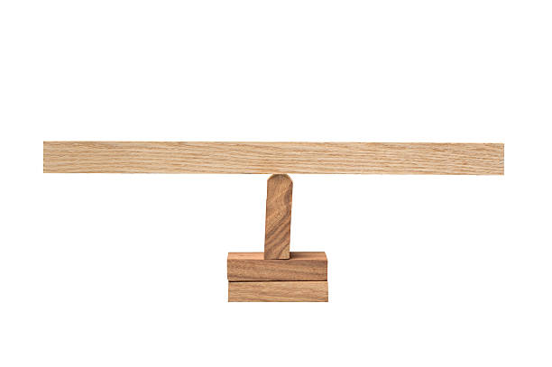 wooden balance - balance beam stock photos and pictures
