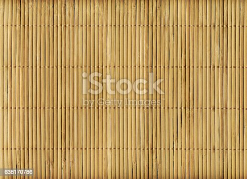 istock Wooden bamboo mat texture abstract background 638170786