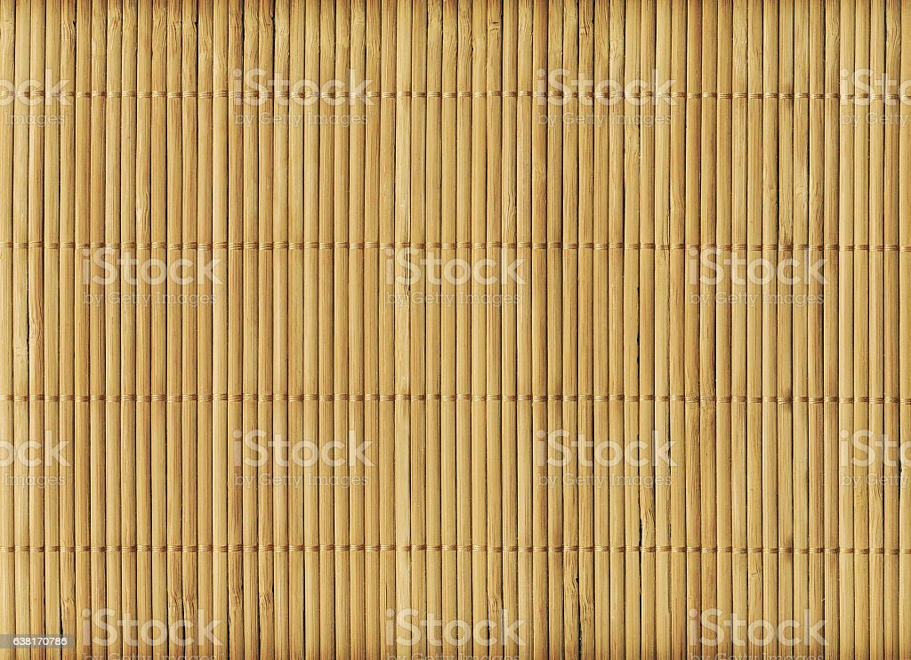 Wooden bamboo mat texture abstract background stock photo