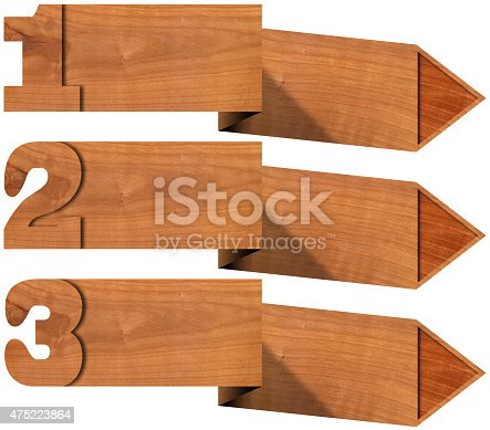 istock Wooden Banners with Three Options 475223864