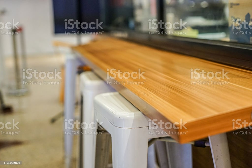Remarkable Wooden Bar Table Stock Photo Download Image Now Istock Home Interior And Landscaping Pimpapssignezvosmurscom