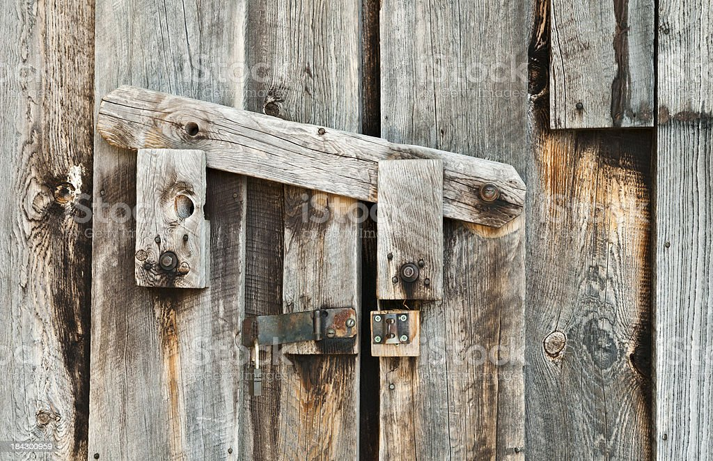 Wooden Barn Door Latch Close Up Stock Photo More Pictures Of