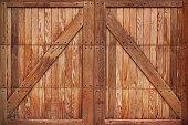istock Wooden Barn Gate Doors 1226857188