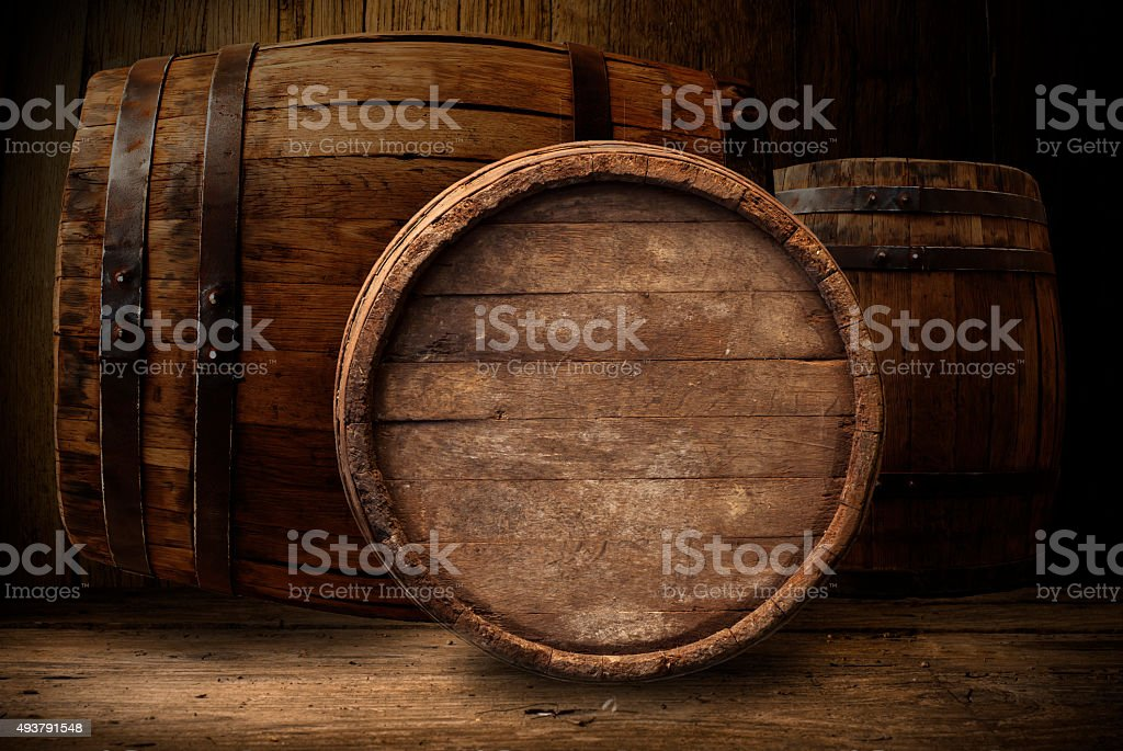 wooden barrel beer stock photo