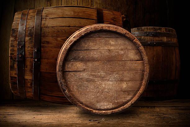 wooden barrel beer stock photo