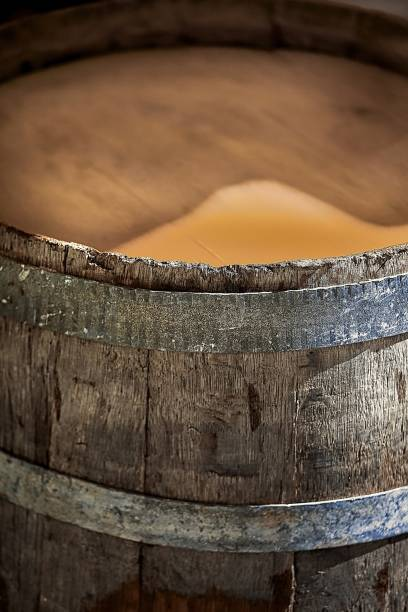 Wooden Barrel. Closeup stock photo