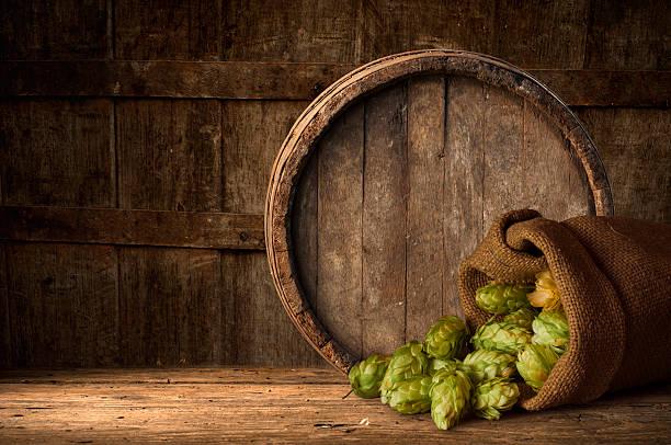 Holz Fass Bier, Wein und whiskey – Foto