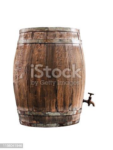 Wine barrel over black background