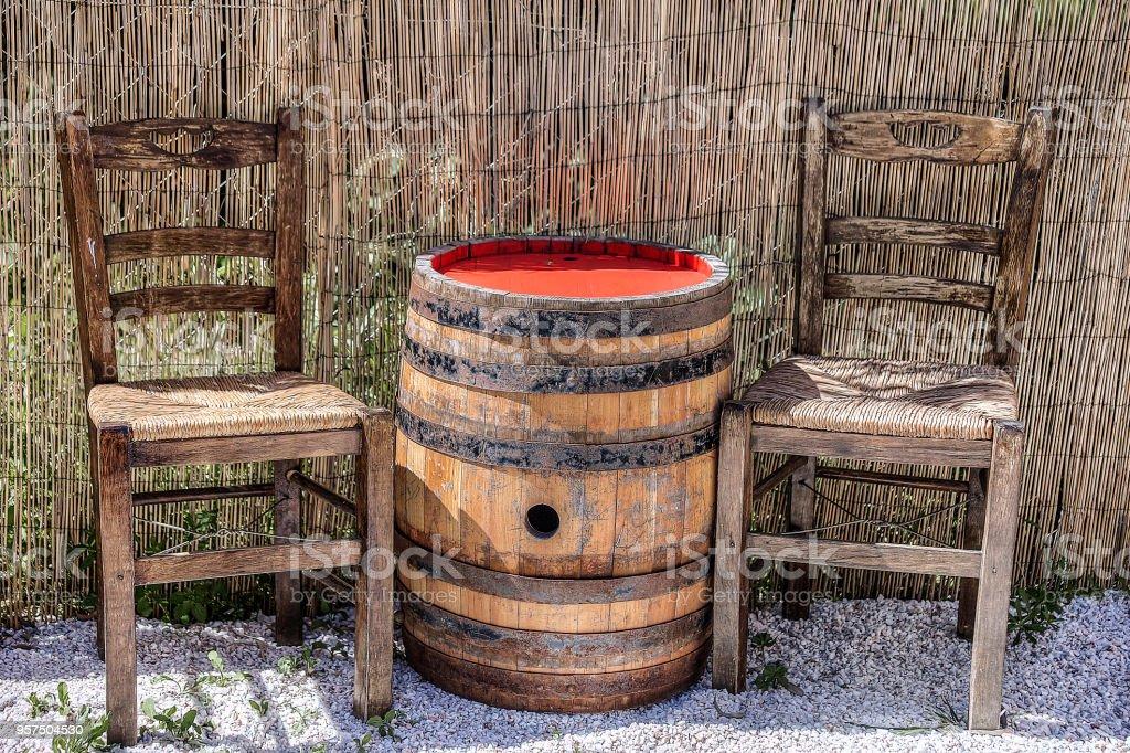 Wooden Barrel . stock photo