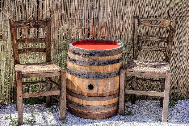 Wooden Barrel . stock photo
