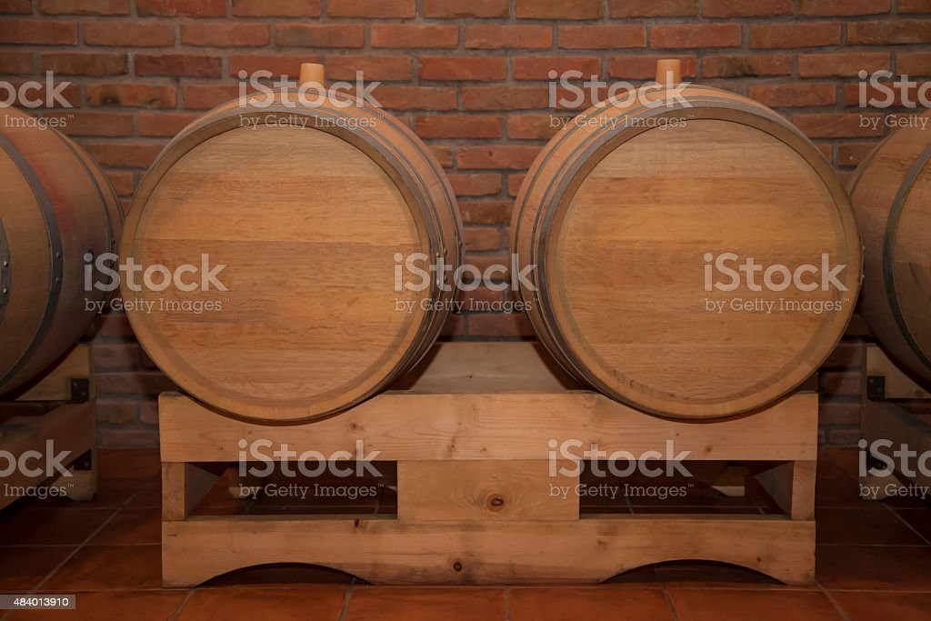 Wooden Barrels In A Wine Cellar Stock Photo Download Image Now Istock