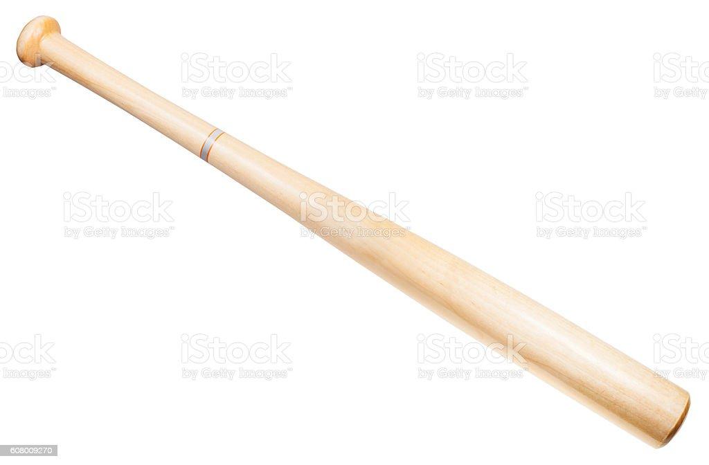 wooden baseball bat isolated on white stock photo