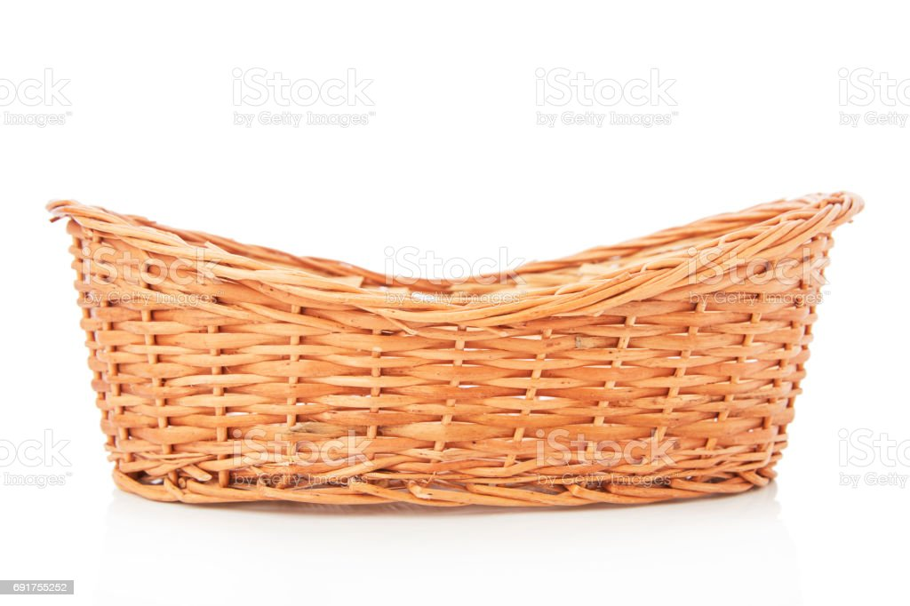 Wooden basket royalty-free stock photo