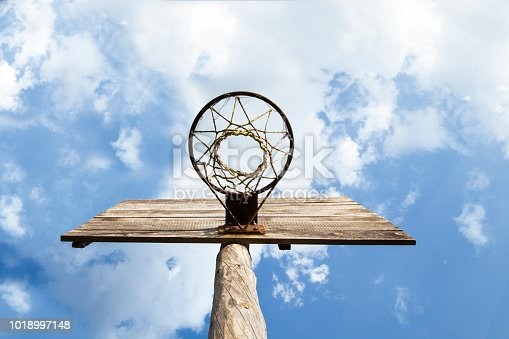 Wooden Basketball   board with hoop