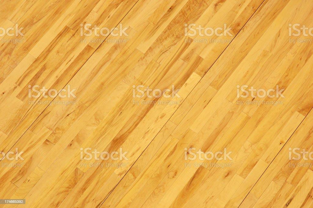 Toma aérea de básquetbol piso de madera en Diagonal - foto de stock