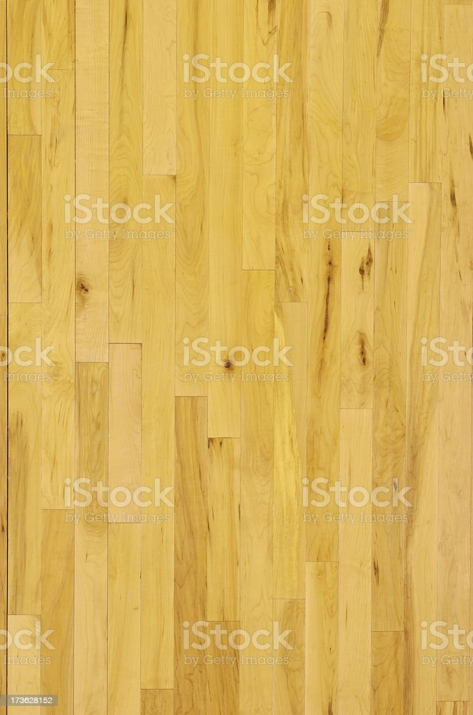 Wooden Basketball Floor Shot Overhead at Vertical stock photo