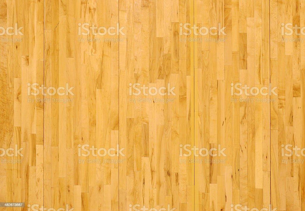 Wooden Basketball Floor Shot Overhead Horizontal stock photo