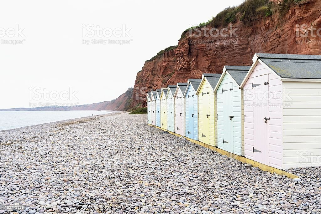 Wooden Beach Huts royalty-free stock photo