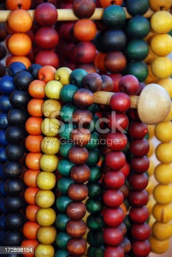 istock Wooden beads necklaces 172898154