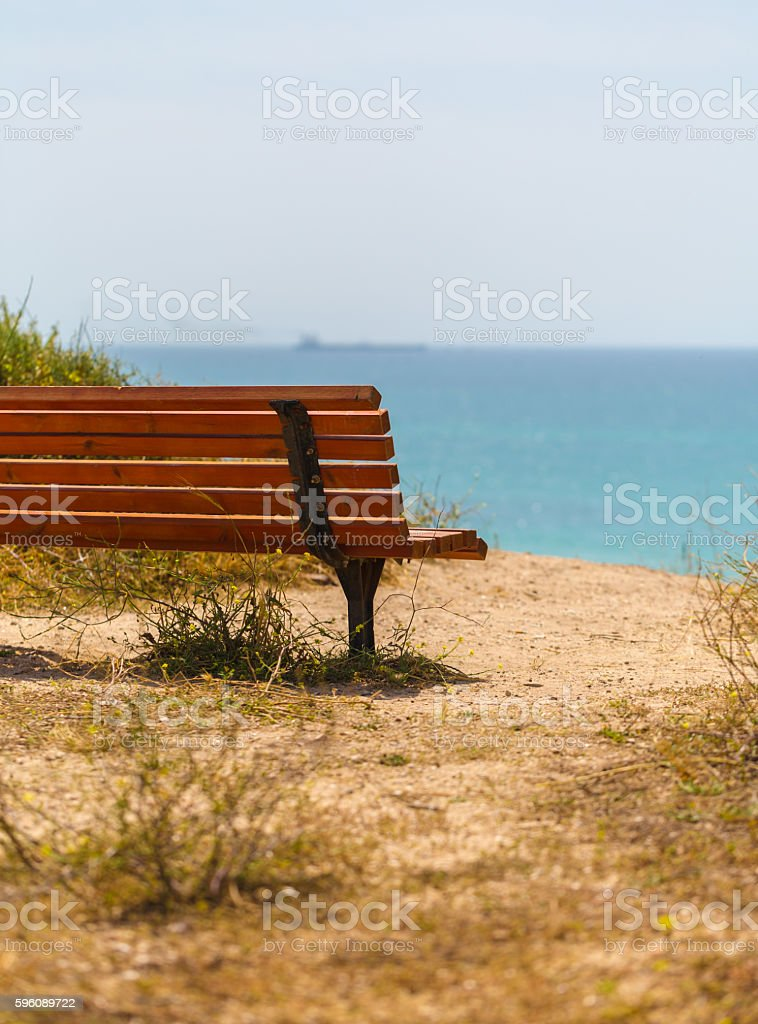 wooden bench close-up royalty-free stock photo