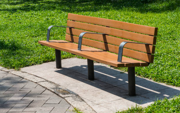 Miraculous Wooden Bench In The Park Stock Photo Download Image Now Ibusinesslaw Wood Chair Design Ideas Ibusinesslaworg